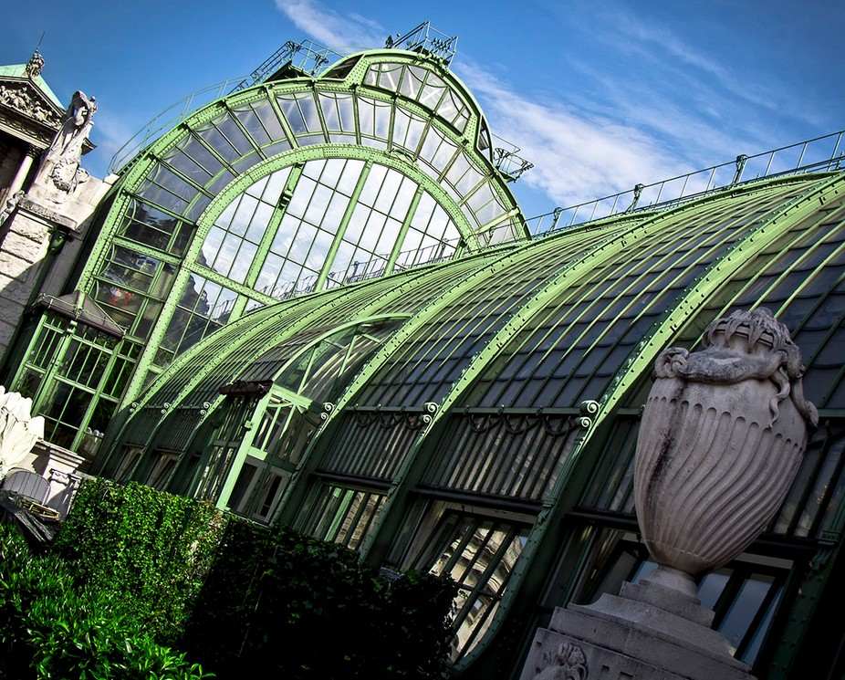 The Palm House. The greenhouse of the Neue Hofburg in Vienna.