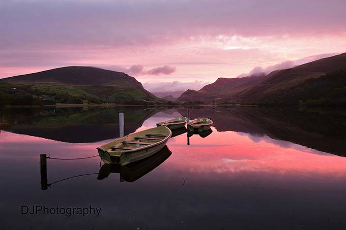 Llyn Nantle sunrise by derrenjones - Ships And Boats Photo Contest