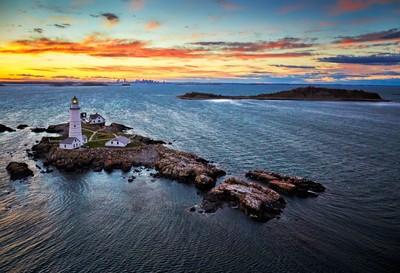 Boston Light Sunset