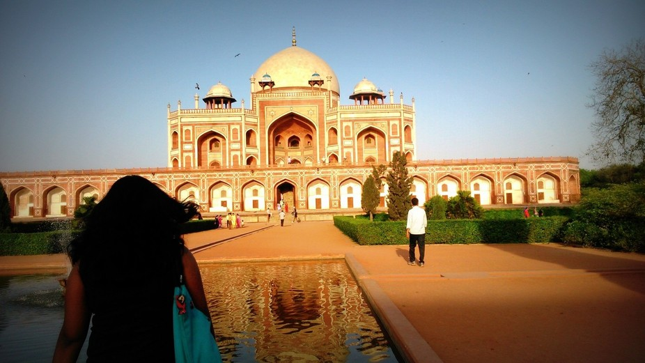 Humayun's tomb#proportions #relative visit# redstone#carvings#water