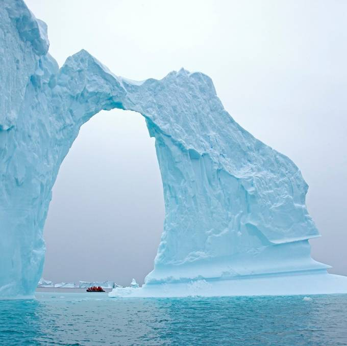 Antarctica's Delicate Arch by TrekLightly - People In Large Areas Photo Contest