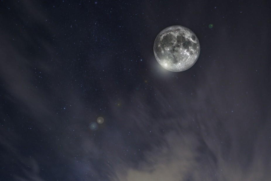 Super Moon in Raglan South Wales
