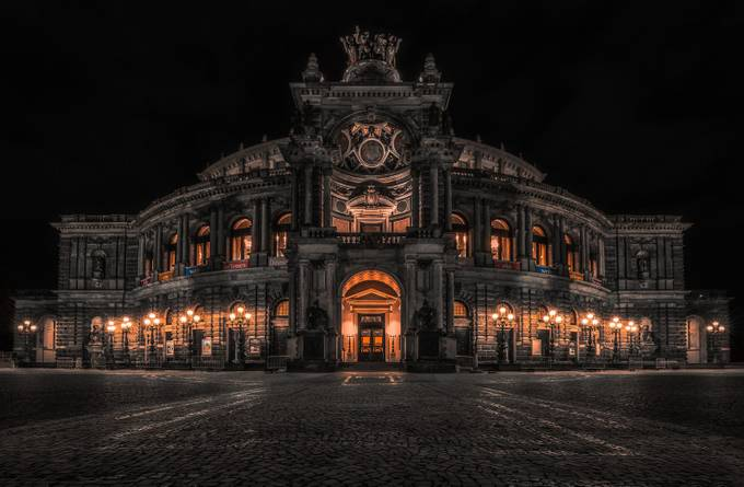 Semperoper by LukasPetereit - Architecture And The Night Project