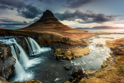 Lights on Kirkjufell