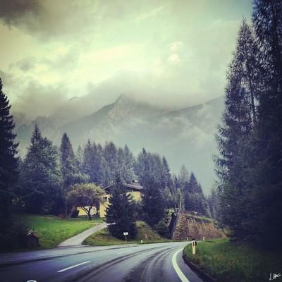 A foggy journey through mountains..