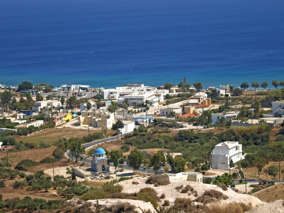 taken from the top of the hill in Kefalos Kos