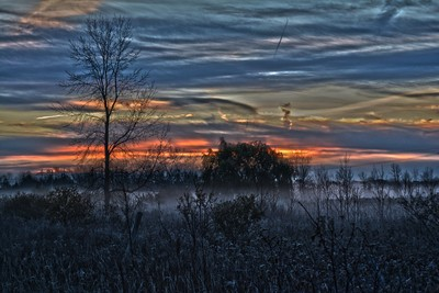 morning sunrise mist