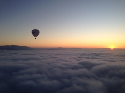 Hanging above the clouds