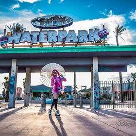 An abandoned water park in California was the scene of this shot. Energetic and charming Model is Lovina Yavari.