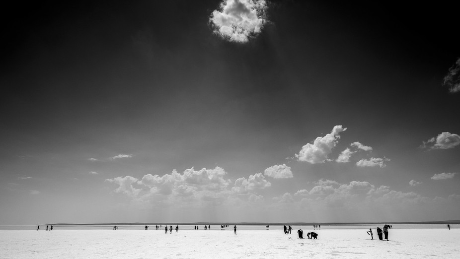 This image was taken on a trip to Turkey in 2015. It is a salt lake near Ankara and the amazing c...