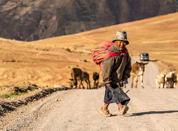 THE LITTLE PEOPLE OF PERU by SpicyArtWorks - Rule Of Thirds Photo Contest v4