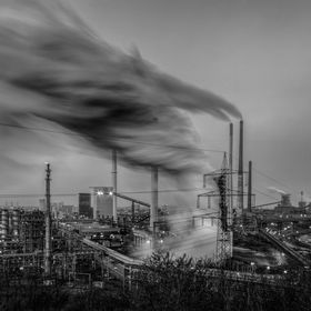 Long exposure work, coking Plant Duisburg, Germany.