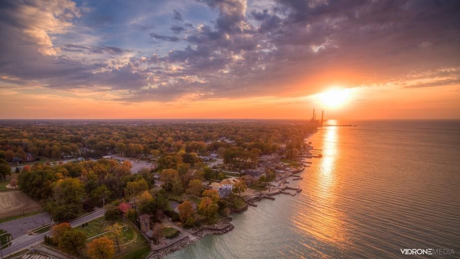 Fall Sunset over Lake Erie