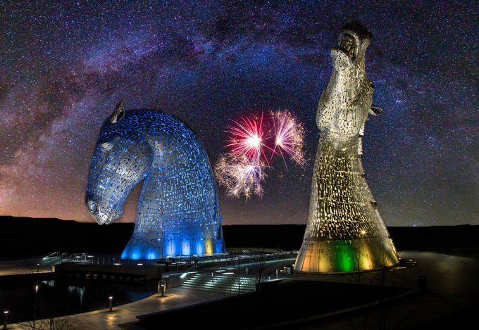 Kelpies composite - v4 by dereksouter - Post Editing Magic Photo Contest