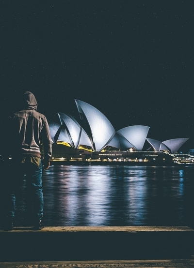 admiring the opera house