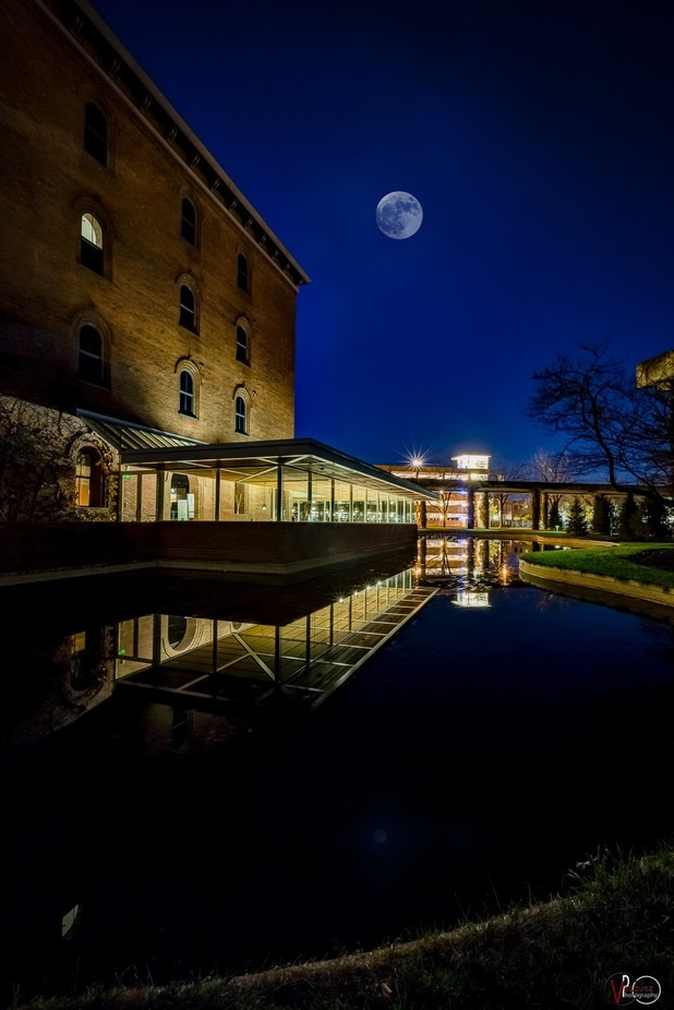 Super Moon Over Downtown Columbus, Indiana by tonyvasquez - Architecture And Reflections Photo Contest
