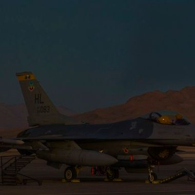 20161114 Super Moon at Nellis Panorama2a