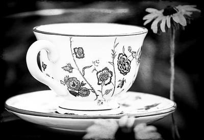Garden Tea in Black and White