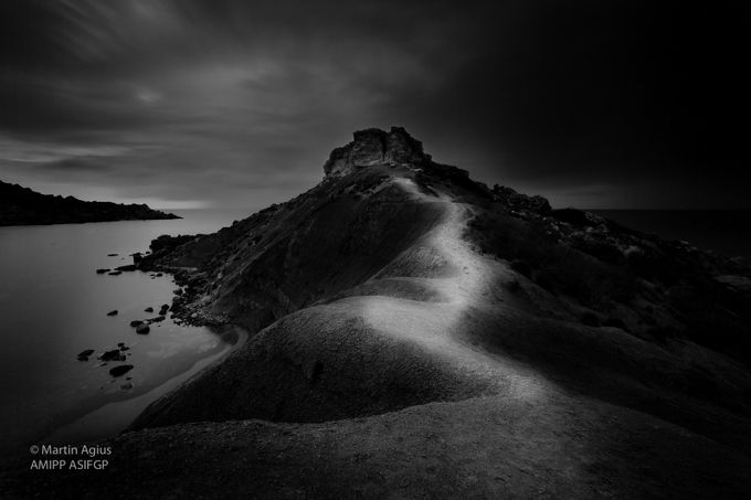 Ghajn Tuffieha B&W by MartinAgius - Black And White Landscapes Photo Contest