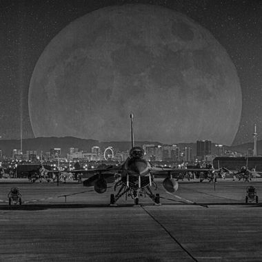 20161114 Nellis Flightline Special BW