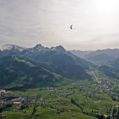 During a nice soaring-Session above Saanen and Gstaad in the Bernese Oberland, Switzerland.