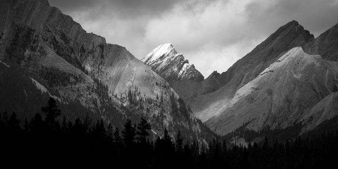 Whitecap by HarryC - Black And White Mountain Peaks Photo Contest