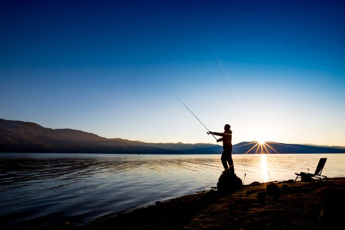 Fishing in the calmness of the morning. Self portrait. by DamianHadjiyvanov - Zen Photo Contest