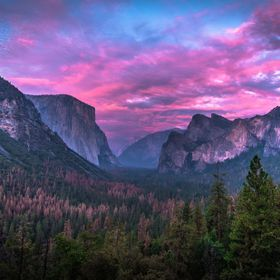 Our last sunset in Yosemite