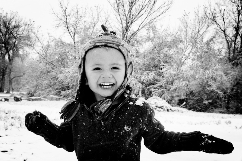 My sweet little man loving the first snow fall of 2016! Winter is coming <3