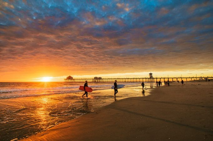 Sunset over Huntington Beach Pier by Blueskyoveraquatic - Unforgettable Landscapes Photo Contest by Zenfolio