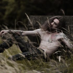 Model Tudor Viorel Chelsoi, graveyard vapire shoot.