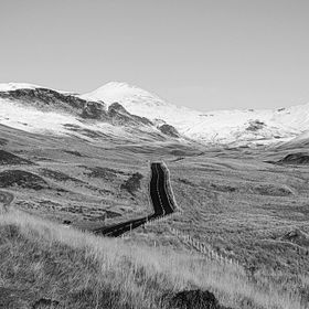 On the road to Glenshee Scotland .