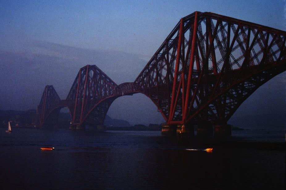 Bridge in the evening mist