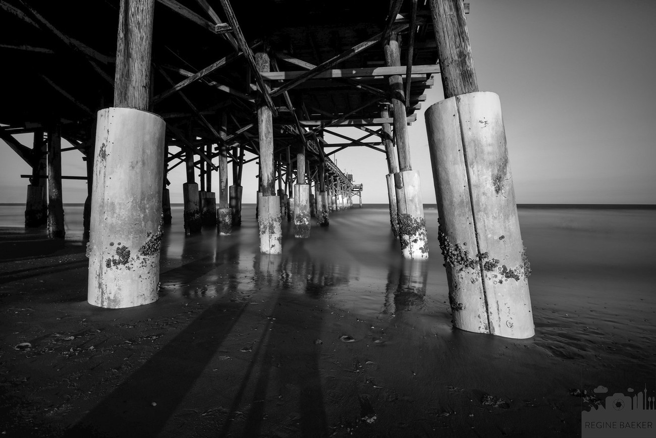 View up t the pier in Cocoa Beach -Long Exposure