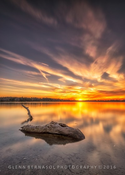 Sunset at Wilcox lake