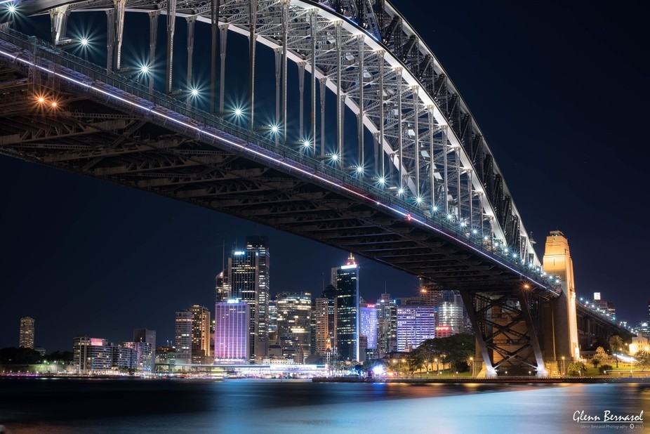 Harbour Bridge during Vivid Sydney 2015