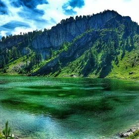The breathtaking photo of Leqinat lake is taken in the mountains of Rugova near to the Peja town in Kosovo.  The journey to the lake, the nature ...