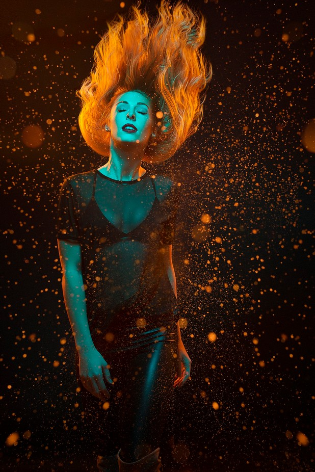 Girl on fire 2.0 by warrenstowell - Image Of The Month Photo Contest Vol 18