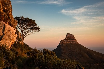 Dawn on the India Route, Table Mountain
