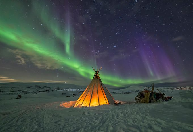 Wide edition of Northern lights boom by zlimmen - Outdoor Camping Photo Contest