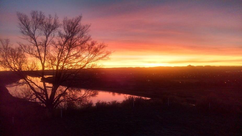 Beautiful sunrise Palisades Blvd overlooking Miles Cityon November 8th