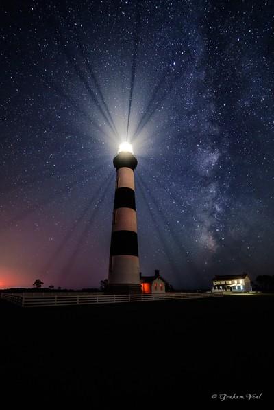 Dark night at Bodie Island Lighthouse