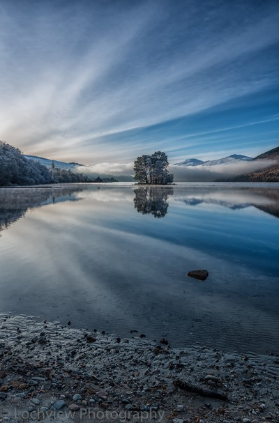 A very cold Loch Tay in Highland Perthshire, Scotland,,,