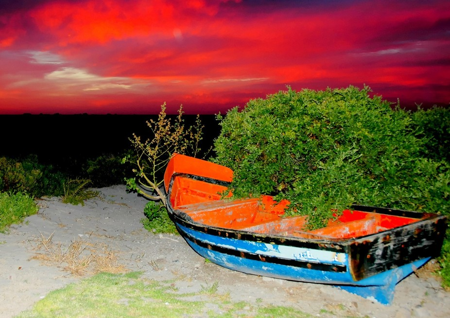 This was taken at sunset at Paternoster - South Africa