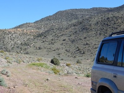 Overland Bound in a LC 80 , on the Pony Express Trail