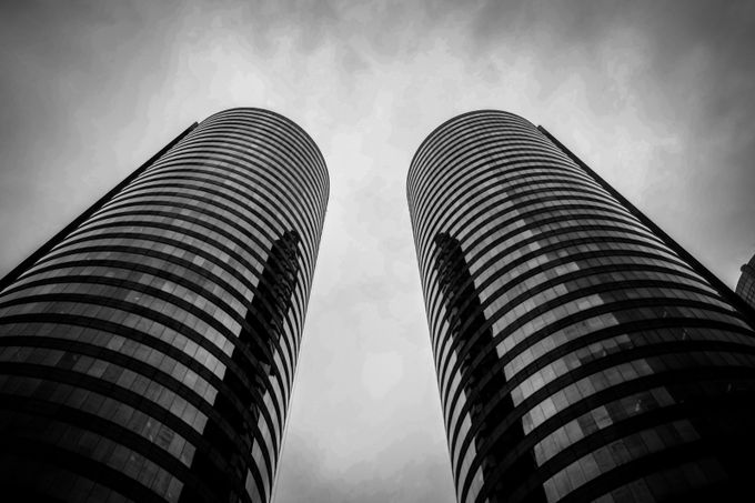 The Towering Twins by ajphotography - Black And White Architecture Photo Contest