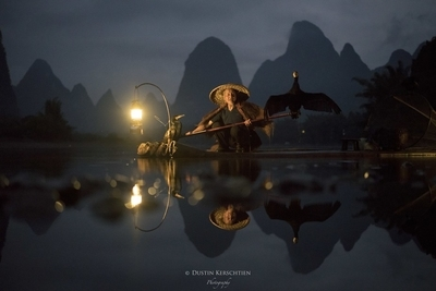 Cormorant Fisherman in Xingping, China II