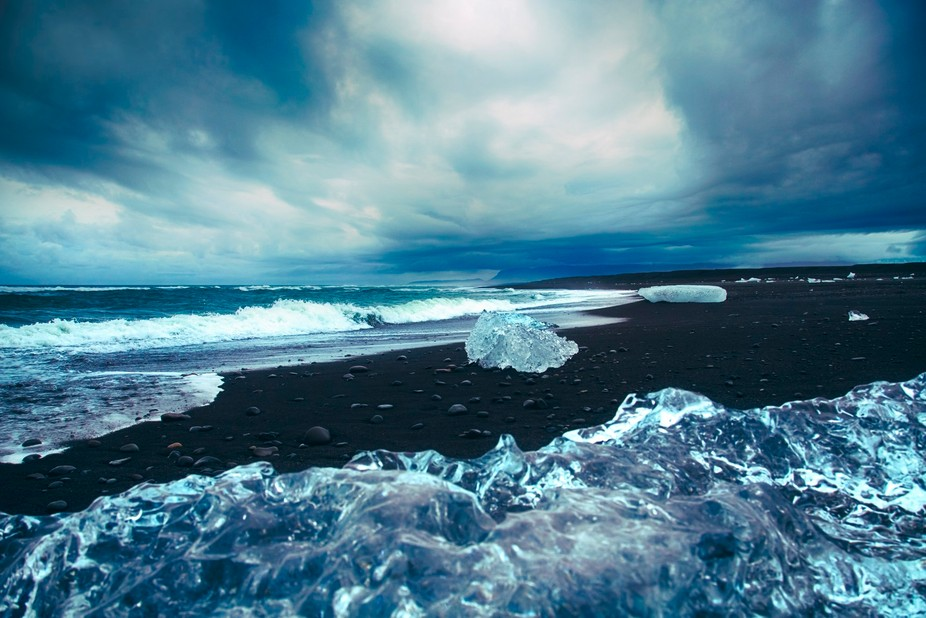 In Iceland, diamonds are glaciers that wash ashore the black sands of the infamous Diamond Beach ...