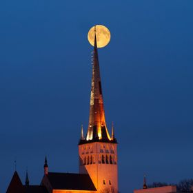 Beautiful image of the St Olaf's Church in the Old Town of Tallinn. Took this in autumn 2015.