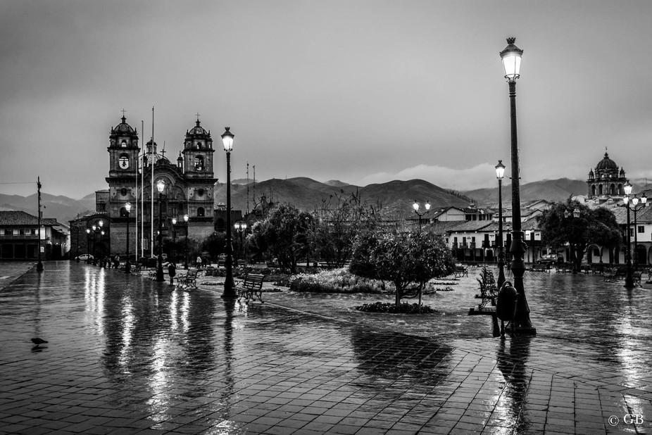 Rainy day sunrise , Cusco Peru